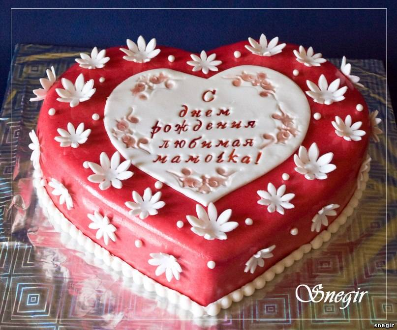 Фото тортик сердечко для мужа